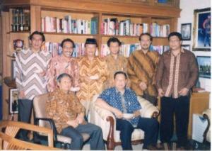 Safari ANS dan kawan-kawan ketika rapat di rumah kediaman pribadi Presiden SBY di Cikeas Bogor