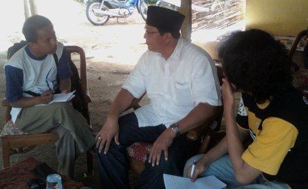 Safari ANS ketika diwawancarai wartawan setelah Deklarasi Revolusi Ekonomi Rakyat